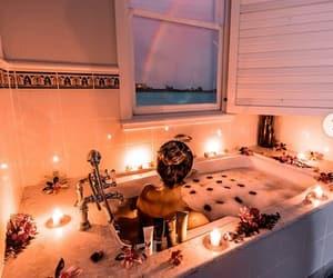 bath, couple, and candle image