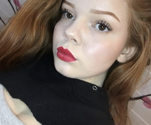 freckles, makeup, and red hair image