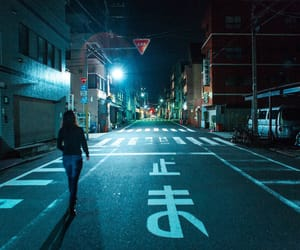 night, alone, and city image