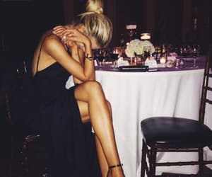 black, dress, and party image