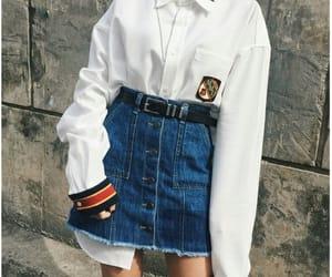 aesthetic, tumblr, and demin skirt image