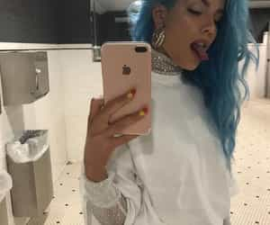 halsey, blue, and Queen image
