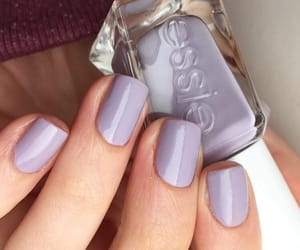 lilac, nail polish, and nails image