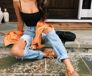 camo, ripped jeans, and fashion image