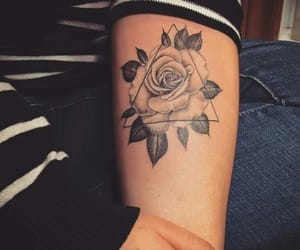 tattoo, ink, and rose image