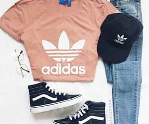 outfit, girl, and adidas image