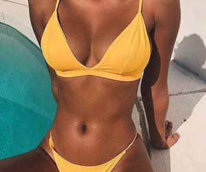 summer, yellow, and bikini image