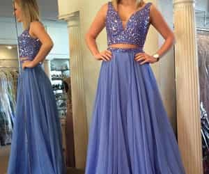 prom dress, two pieces, and fashion image