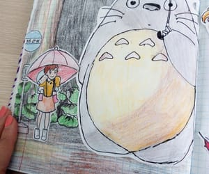 anime, art, and my neighbour totoro image