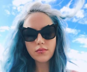 blue hair, glasses, and melodic death metal image