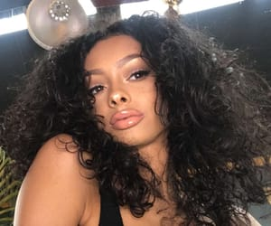 black beauty, curly hair, and girl image