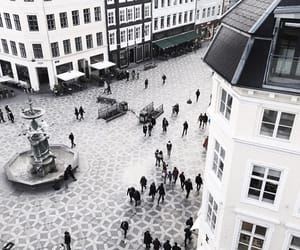 architecture, copenhagen, and fountain image
