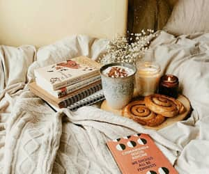 bed, coffee, and candles image