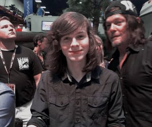 norman reedus, twd, and chandler riggs image