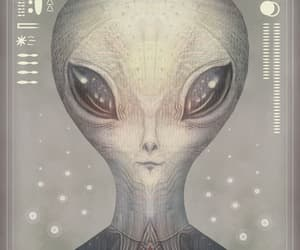 alien, ufo, and creature image