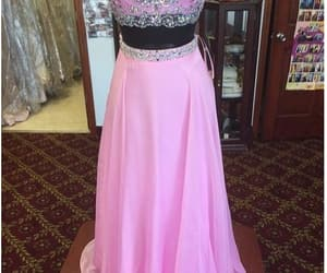 fashion, prom dress, and 2 pieces prom dress image