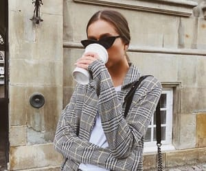 coffee, blazer, and chic image