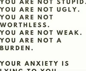 anxiety, positivity, and quote image