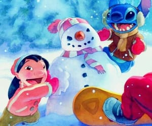 christmas, lilo & stich, and with stich image