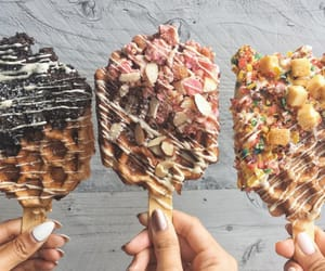 aesthetic, food, and waffle image