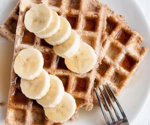 bananas, waffles, and food image