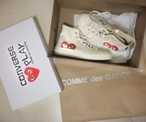 cdg, converse, and heart image