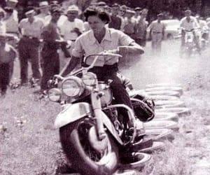 biker, vintage, and women image