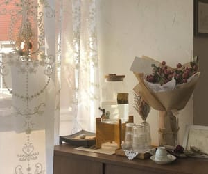 room, interior, and flowers image