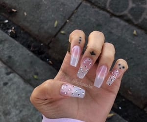 acrylic, long, and nails image