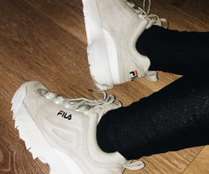 Fila, grey, and shoes image