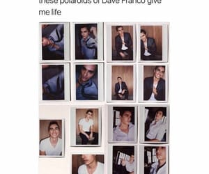 handsome, dave franco, and polaroids image