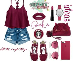 boho, outfit, and pink image