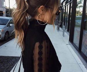 black, elegant, and ponytail image