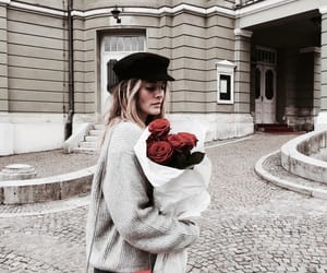 bouquet, buildings, and fashion image