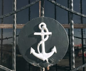 anchor, sailor, and sea image