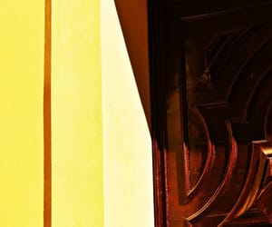 abstract photography, yellow, and wall image