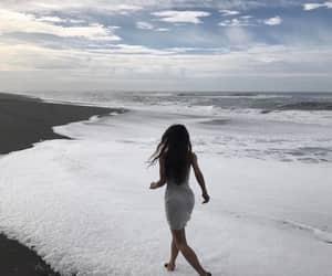 beach, ocean, and girl image