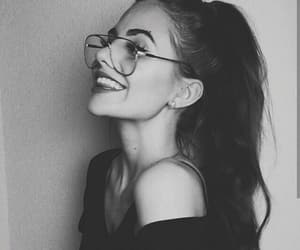 aesthetic, black and white, and smile image