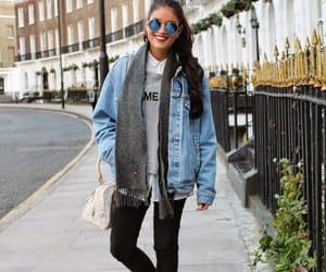 blue, jacket, and jeans image