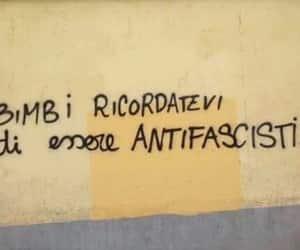 antifascist, graffiti, and italia image