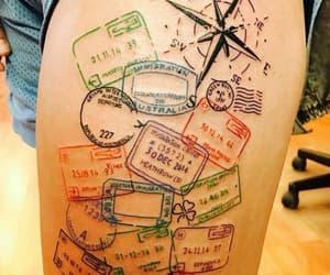 tattoo, travel, and passport image