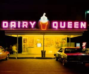 Dairy Queen, ice cream, and night image
