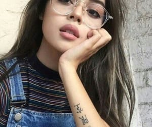 glasses and pretty girl image