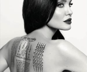 Angelina Jolie, pretty, and Tattoos image