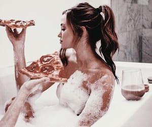 pizza, bath, and food image