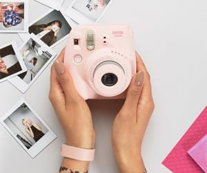 camera, instax, and pink image