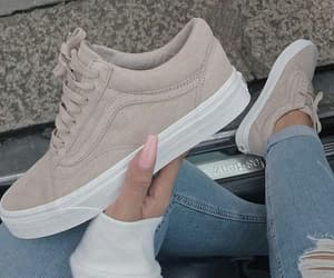 beige, shoes, and vans image