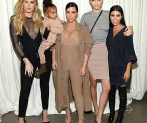 kendall jenner, kim kardashian, and kourtney kardashian image