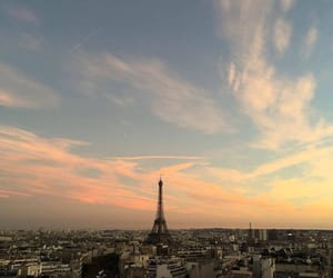 aesthetic, paris, and sunset image