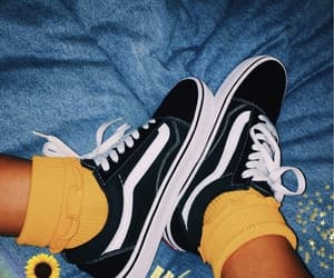 vans, yellow, and black image